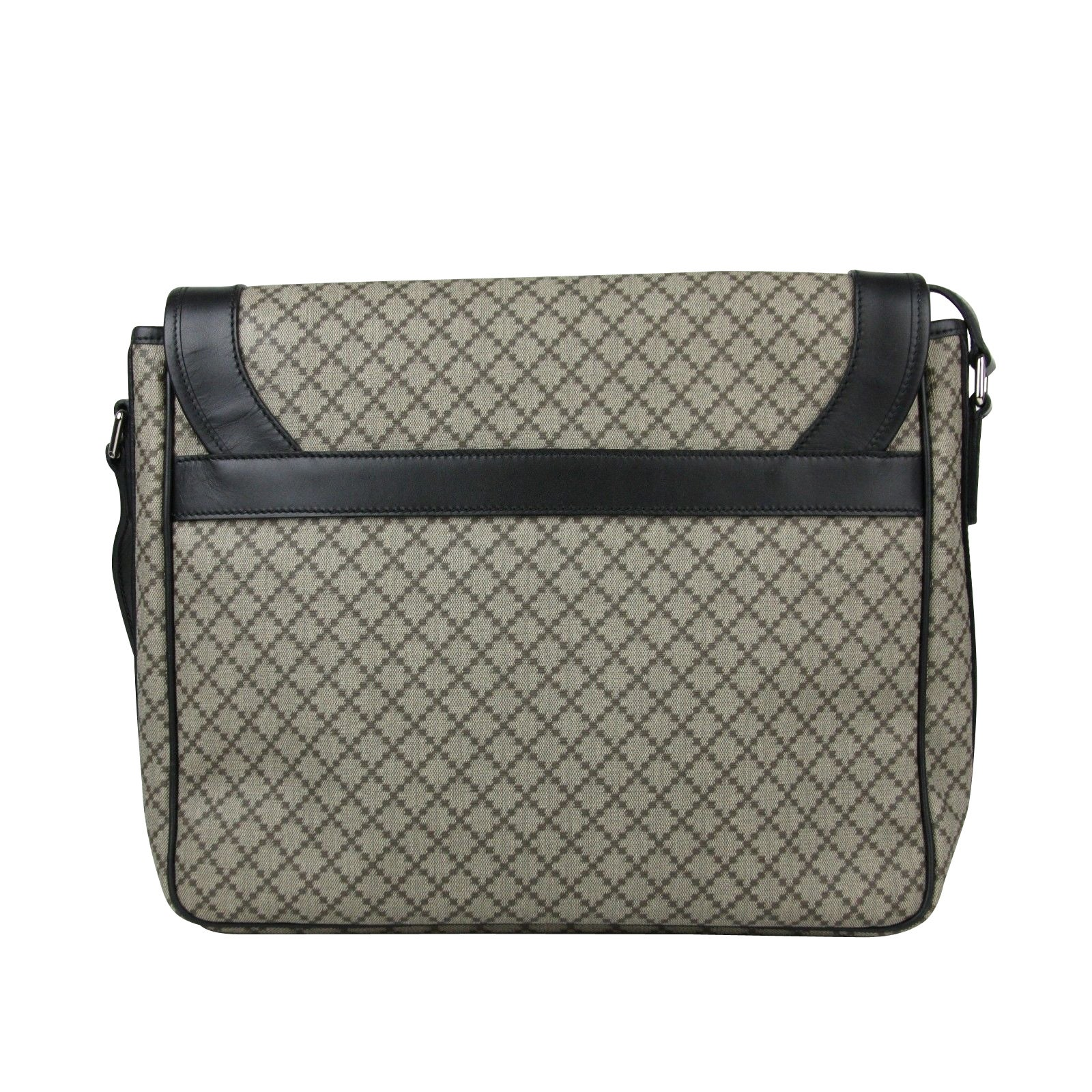 4d7db8562db079 Gucci Men's Supreme Beige/Ebony Diamante Canvas Messenger Bag 295251 9769 -  One size