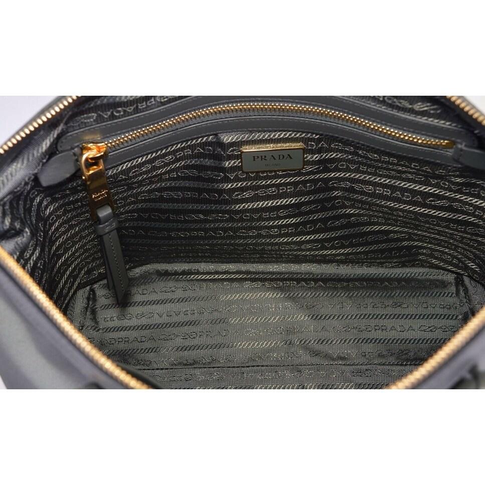 9dba35dec3d4 Shop Prada 1BA104 Borsa A Mano Ardesia Grey Nylon 2-Way Zip Purse Handbag  Bag - Free Shipping Today - Overstock - 27456367