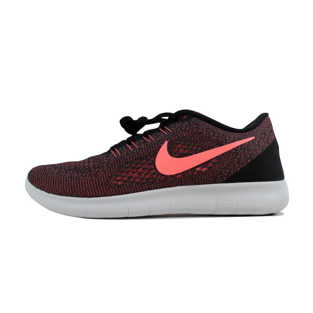 brand new 64d38 15075 Shop Nike Women s Free RN Black Lava Glow-Off White 831509-008 - On Sale -  Free Shipping Today - Overstock - 22919251