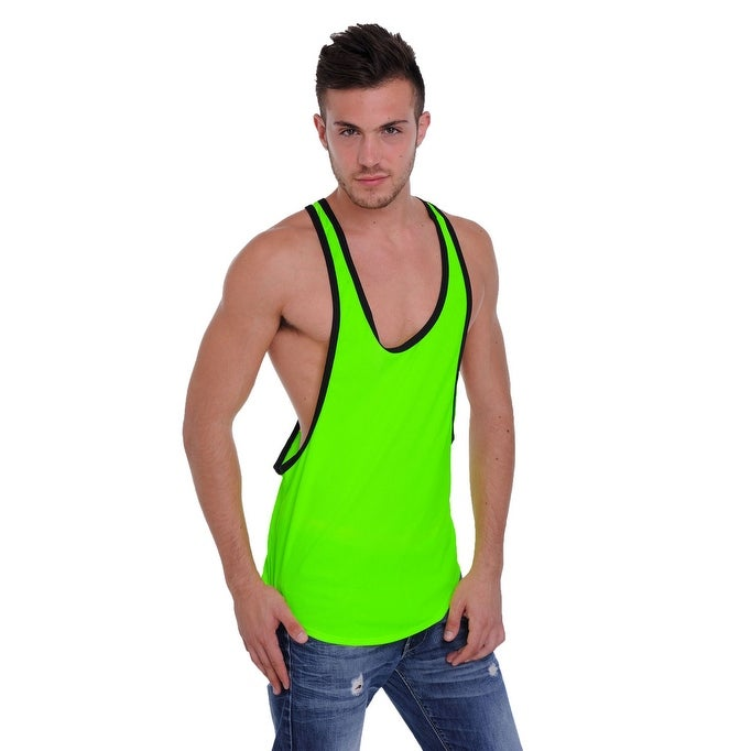 a11ad756 Shop Men's Dri Fit Tank Top Open Side Racer Back Gym Workout Rib Ringer Muscle  Shirt - Free Shipping On Orders Over $45 - Overstock - 12147398