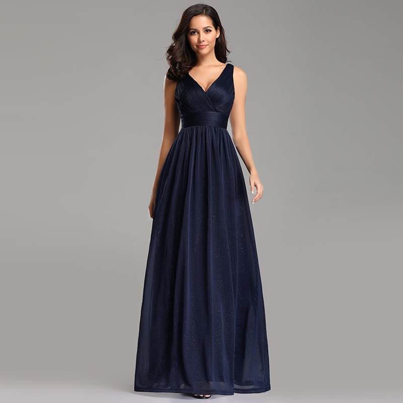 49a34cb3b1c Shop Ever-Pretty Womens Ruched Navy Blue Long Evening Prom Party Bridesmaid  Dress 07764 - On Sale - Free Shipping Today - Overstock - 27987979