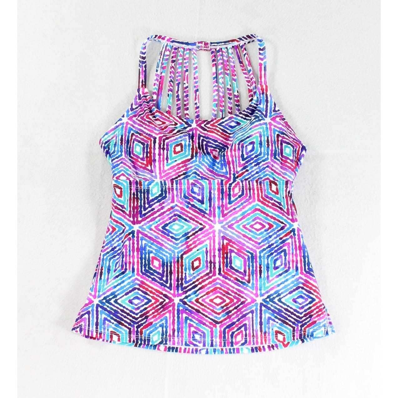 Leilani NEW Blue Purple Women's Size 6 Geo Print Strappy Tankini Top - Free  Shipping On Orders Over $45 - Overstock.com - 27392955