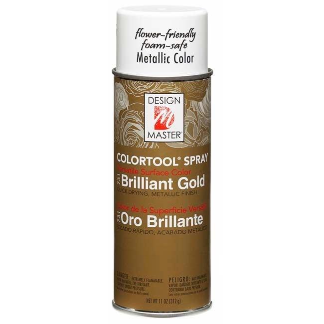 Brilliant Gold Design Master Colortool Metal Spray Paint 11oz