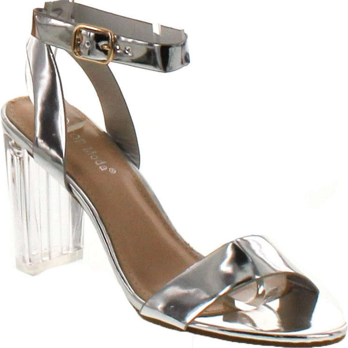 a4b6c902cbd7 Shop Top Moda Women s Alma-70 Lucite Clear Strappy Block Chunky High Heel  Open Peep Toe Sandal - Free Shipping On Orders Over  45 - Overstock -  14820228