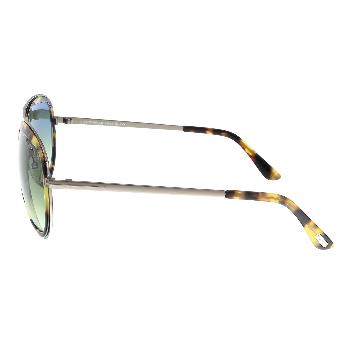 c8e5c8aa482 Shop Tom Ford FT0468 S 53P ANDY Brushed Silver Tortoise Aviator Sunglasses  - 58-17-140 - Free Shipping Today - Overstock - 16747704