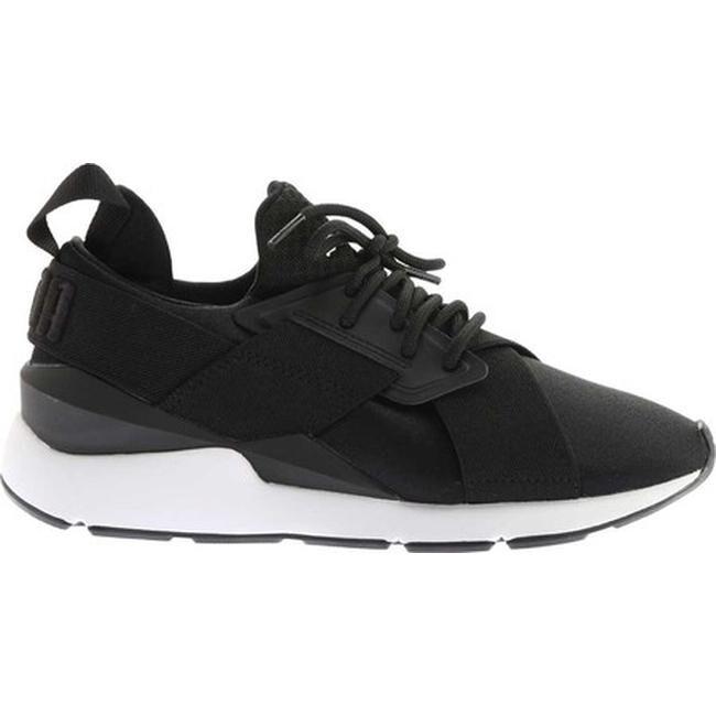 d7240cbd2f4 Shop PUMA Women s Muse Satin En Pointe Sneaker PUMA Black PUMA White - On  Sale - Free Shipping Today - Overstock - 20254455