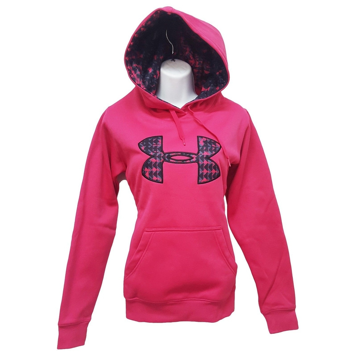 Women s Under Armour 1221640 ColdGear Fleece Big Logo Hoodie Pink Small 2bbeff6de129