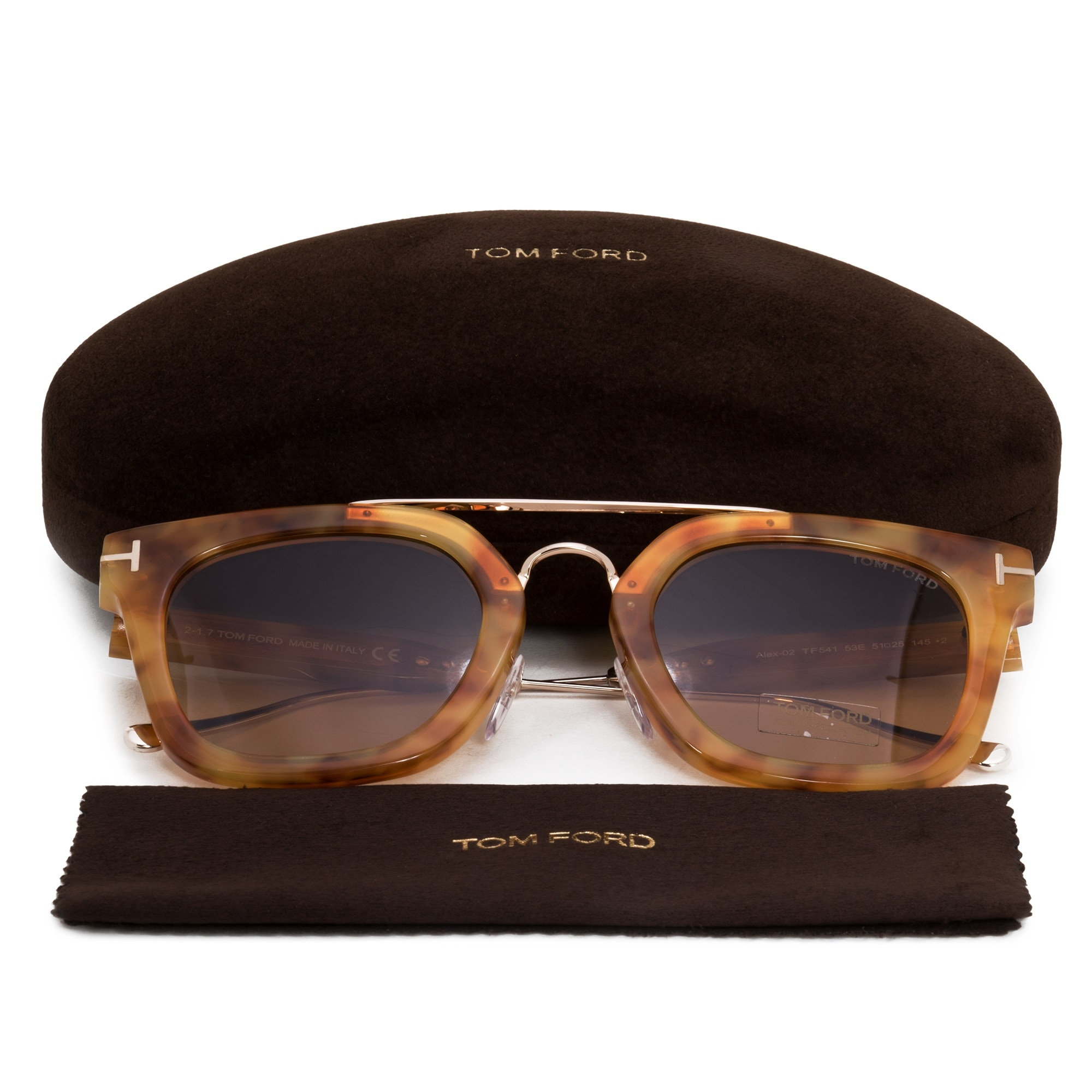 b3fbb15380b9f Shop Tom Ford Alex-02 Wayfarer Sunglasses FT0541 53E 51 - Free Shipping  Today - Overstock - 21408817