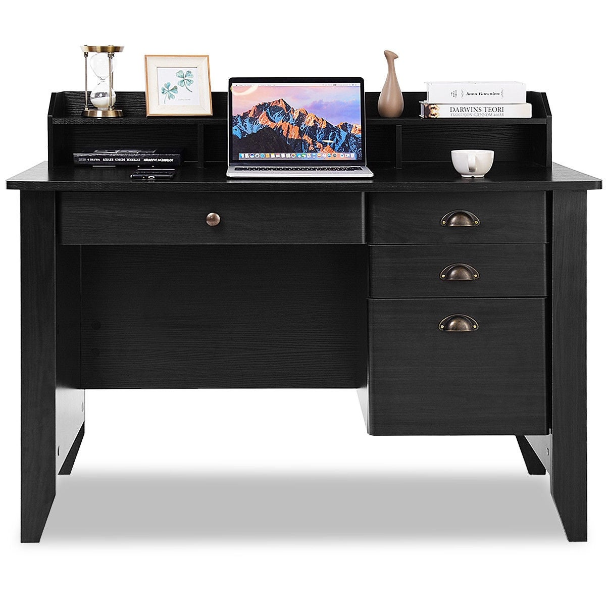 1463e111f9c0f Shop Costway Computer Desk PC Laptop Writing Table Workstation Student Study  Furniture Black - Free Shipping Today - Overstock - 15869396