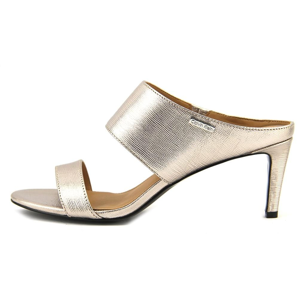 cc5b8703c36b Shop Calvin Klein Cecily Women Open Toe Leather Gold Sandals - Free  Shipping On Orders Over  45 - Overstock - 18039768