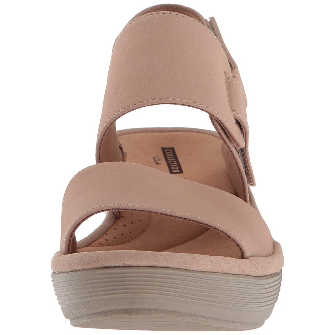 c0afbd779ee9 Shop Clarks Womens Reedly Breen Leather Open Toe Casual Slingback Sandals -  Free Shipping Today - Overstock - 23448354