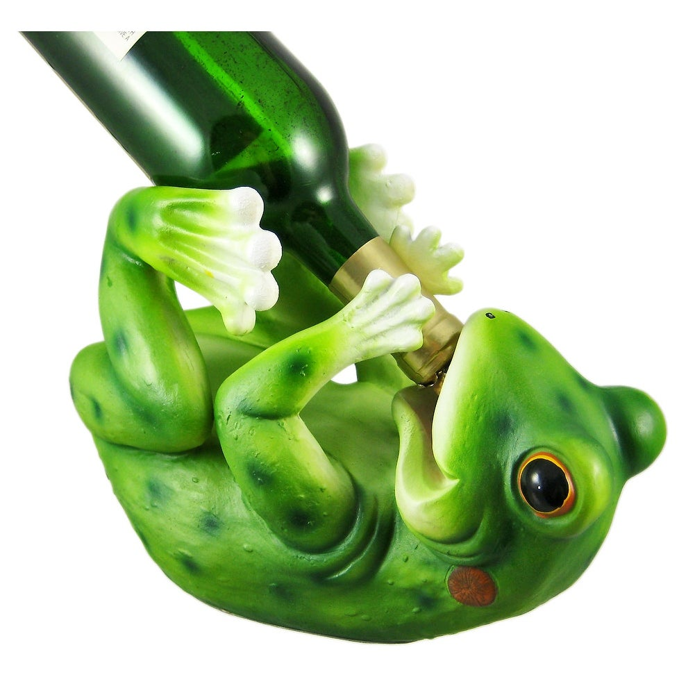 Funny Drinking Frog Wine Bottle Holder Kitchen Decor On Free Shipping Orders Over 45 16750949