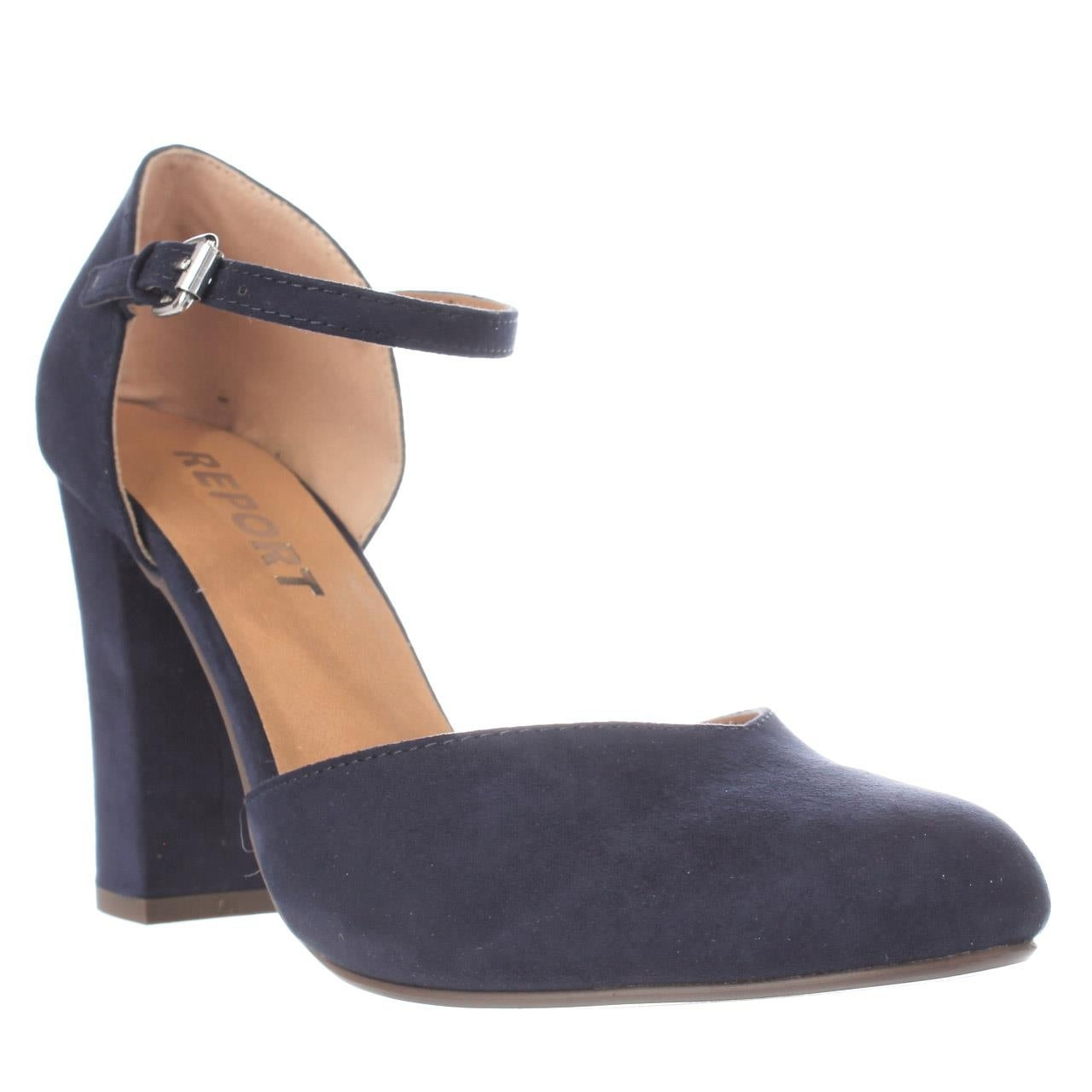05a51585d59 Shop Report Footwear Ladee Ankle Strap Pumps - Navy - Free Shipping Today -  Overstock - 14826300