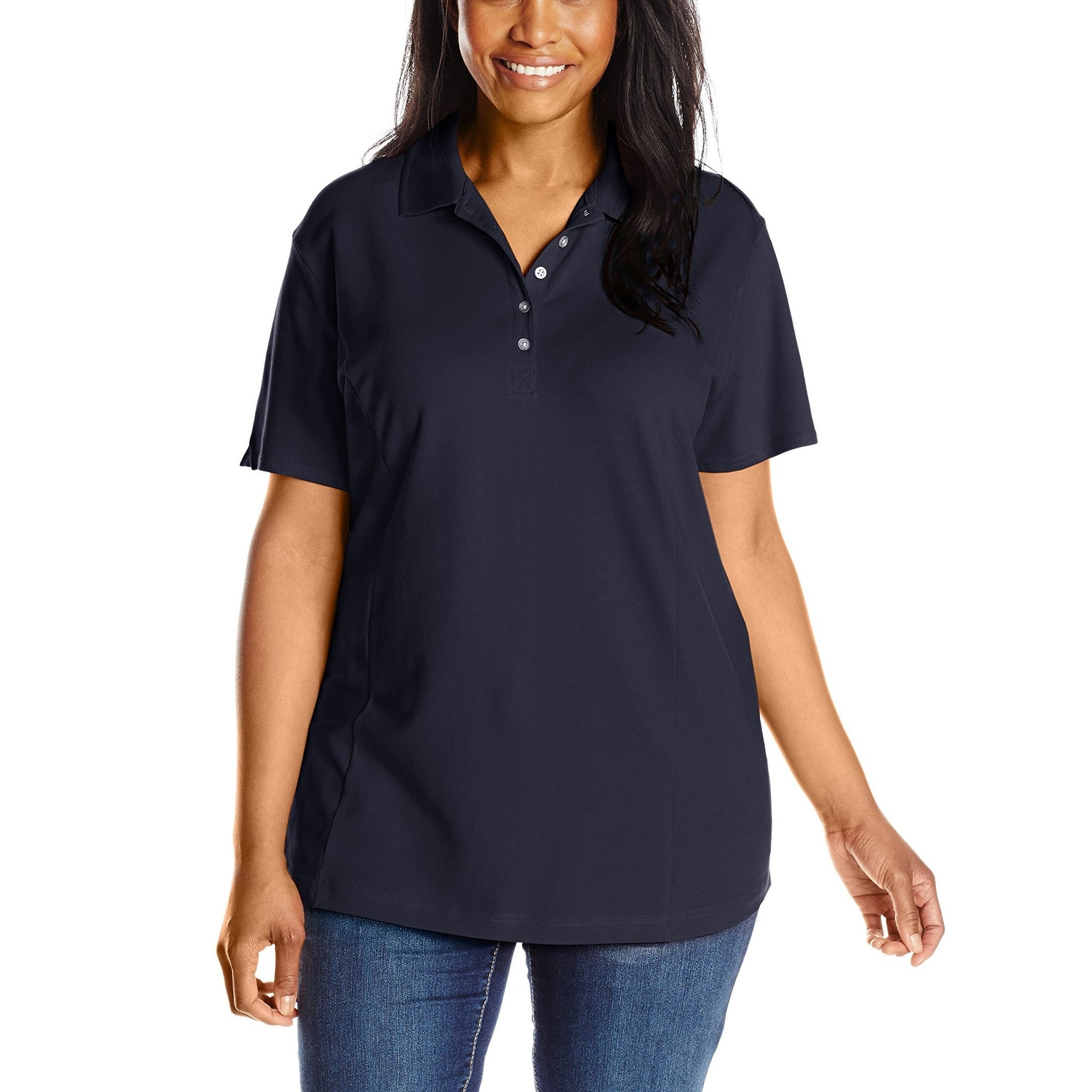852bd739d5453 Shop Riders by Lee Indigo Dark Navy Blue Women s Size 2X Plus Polo Shirt -  Free Shipping On Orders Over  45 - Overstock - 28017164