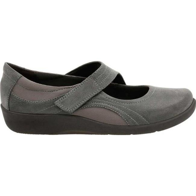 d5ae7588ac9 Clarks Women's Sillian Bella Mary Jane Grey Synthetic Nubuck