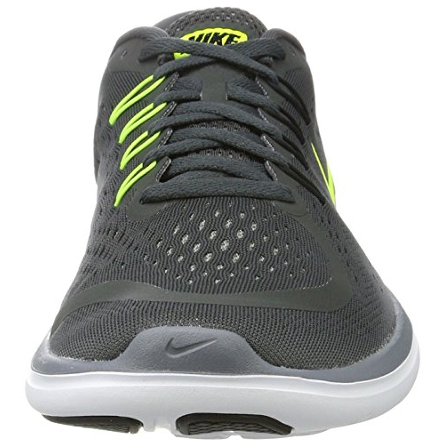 Shop Men s Nike Flex RN 2017 Running Shoe Anthracite Volt Cool Grey Black -  Free Shipping Today - Overstock - 18278321 676a270c1