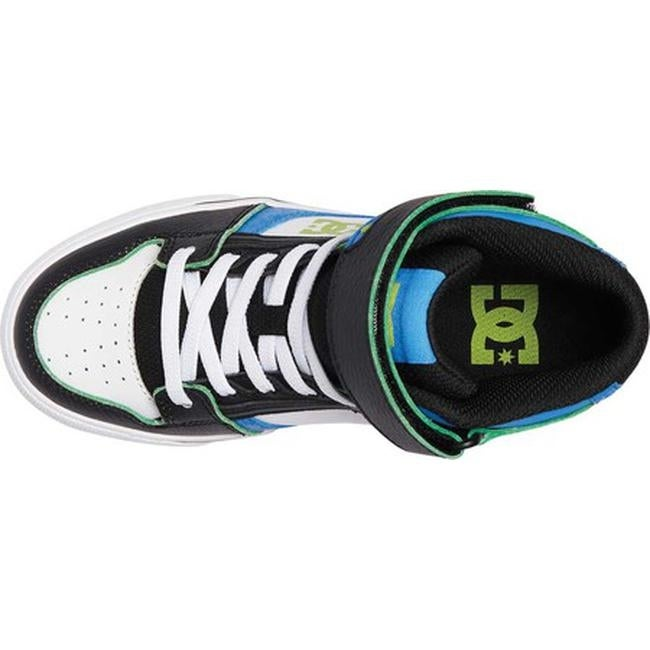 91b4bd26f2bd Shop DC Shoes Boys  Pure Hi-Top SE EV Blue Black White - Free Shipping On  Orders Over  45 - Overstock - 20488480