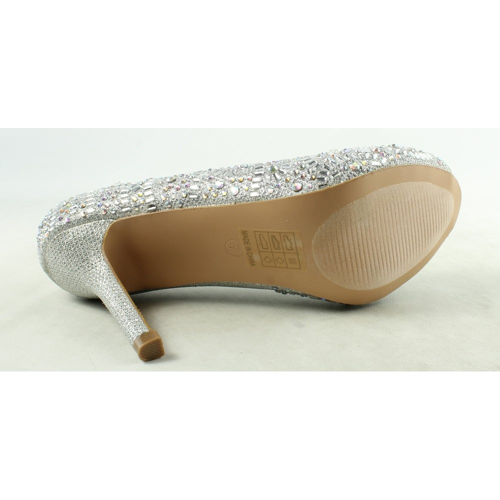 31c51423b79 Shop Lauren Lorraine Womens Paula-2 Silver Open Toe Heels Size 7 - On Sale  - Free Shipping On Orders Over  45 - Overstock - 22904451