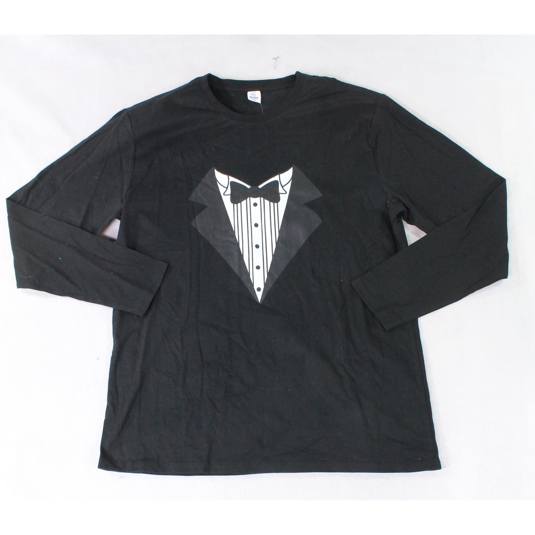 8048cfdbf Shop Hiclol Black Mens Size 2XL Tuxedo Long Sleeve Graphic Tee T-Shirt - On  Sale - Free Shipping On Orders Over $45 - Overstock - 27281123