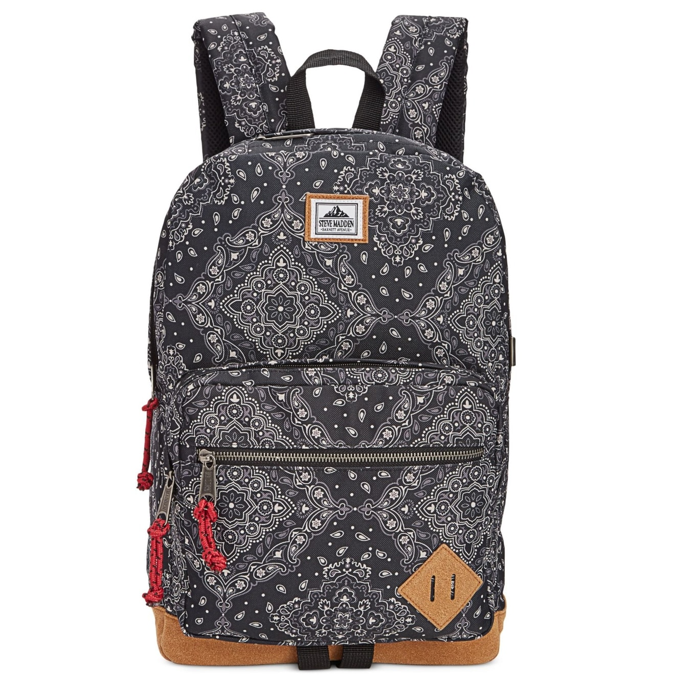 63725278e159 Shop Steve Madden NEW Black Men s Bandana Classic Print Suede Backpack -  Free Shipping On Orders Over  45 - Overstock - 20559582