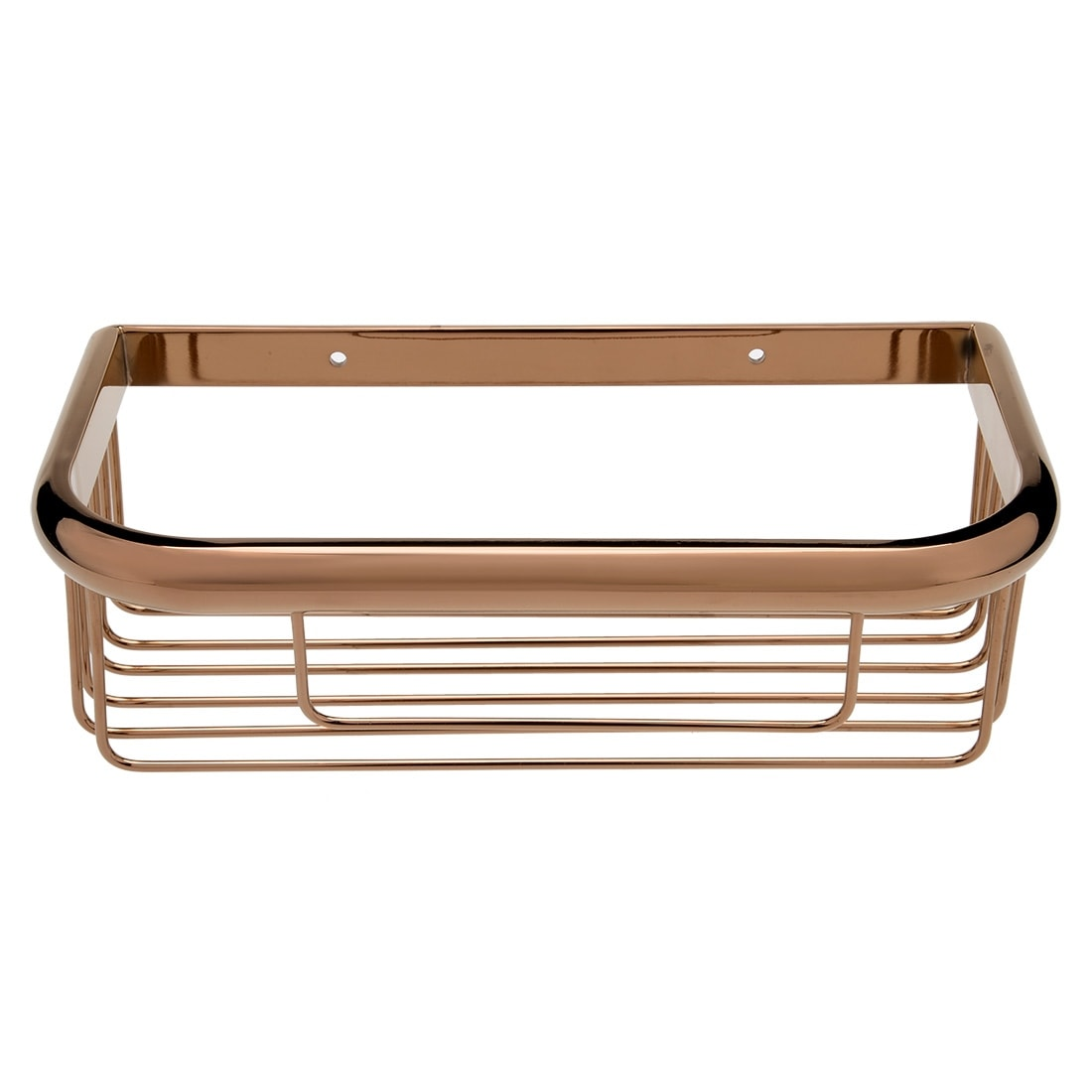 Shop 10-inch Brass Wall Mount Rectangle Shape Bathroom Shower Basket ...