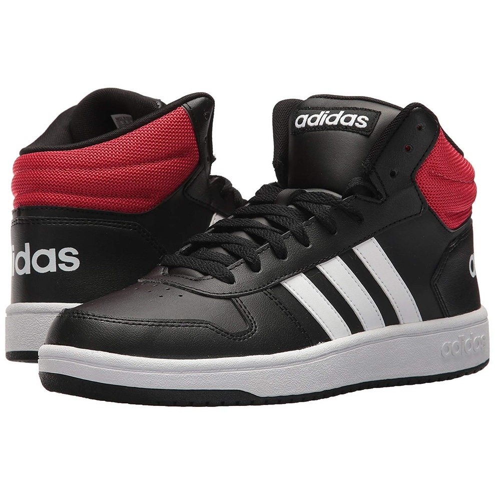 newest collection ad9ed 2cdba Shop Adidas Mens Vs Hoops Mid 2.0, Core BlackWhiteScarlet, 11 M Us -  Free Shipping Today - Overstock - 25591727