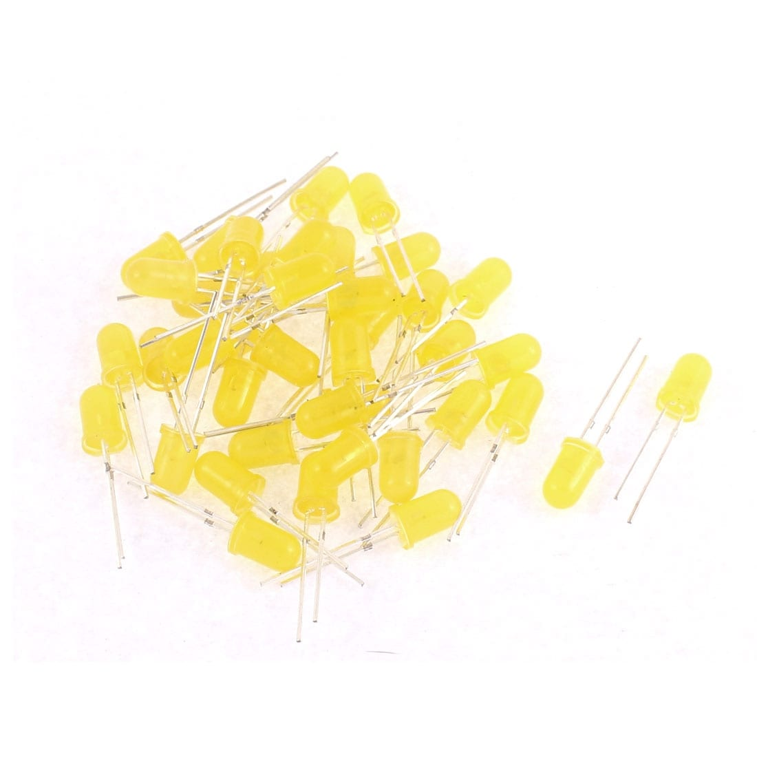 Shop 40pcs 5mm Yellow Color Led Light Emitting Diode Beads Lights Electrical Circuits Bulb Lamp On Sale Free Shipping Orders Over 45 18309263