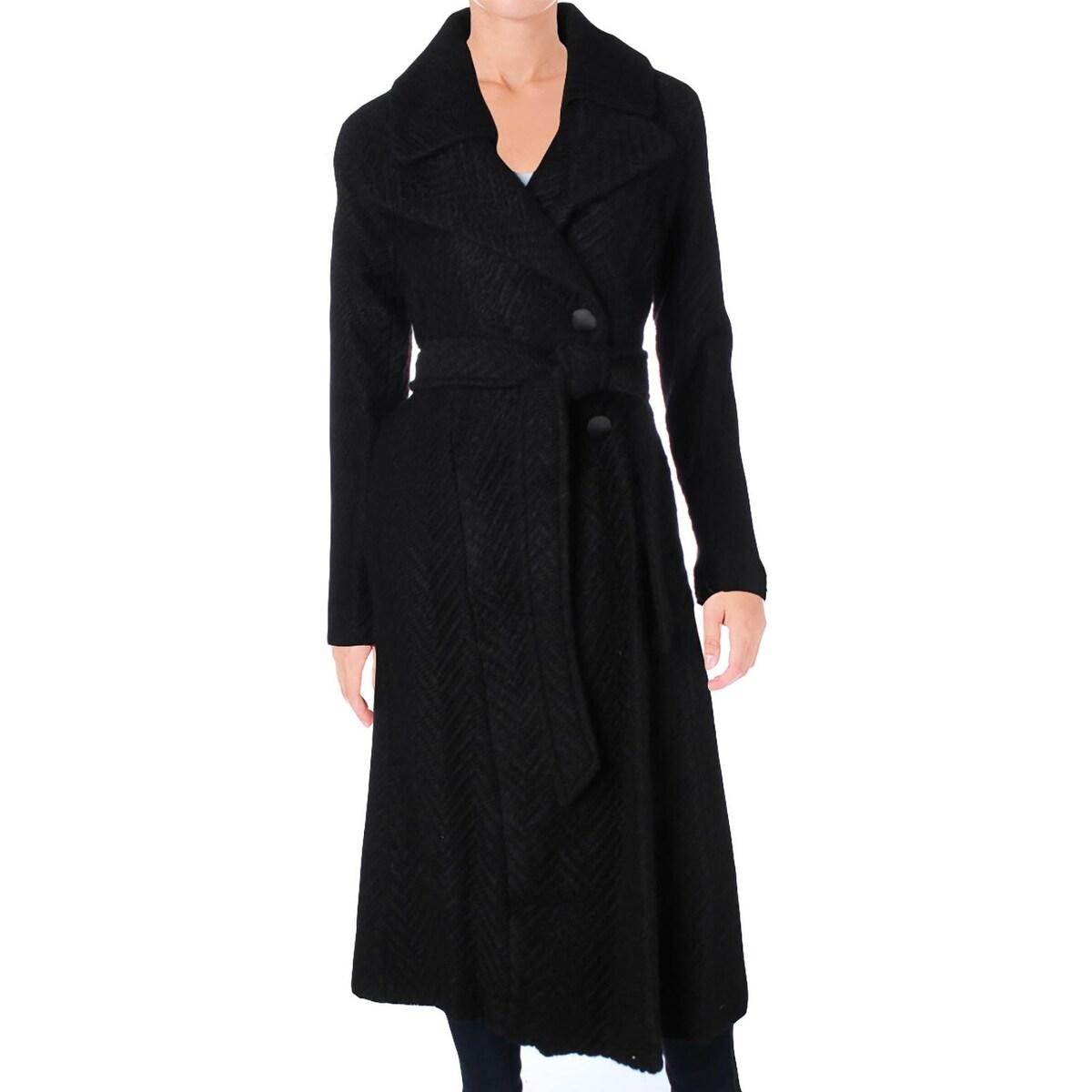 13be27fad649 Shop Nanette Lepore Womens Maxi Coat Winter Herringbone - Free Shipping  Today - Overstock - 18691930