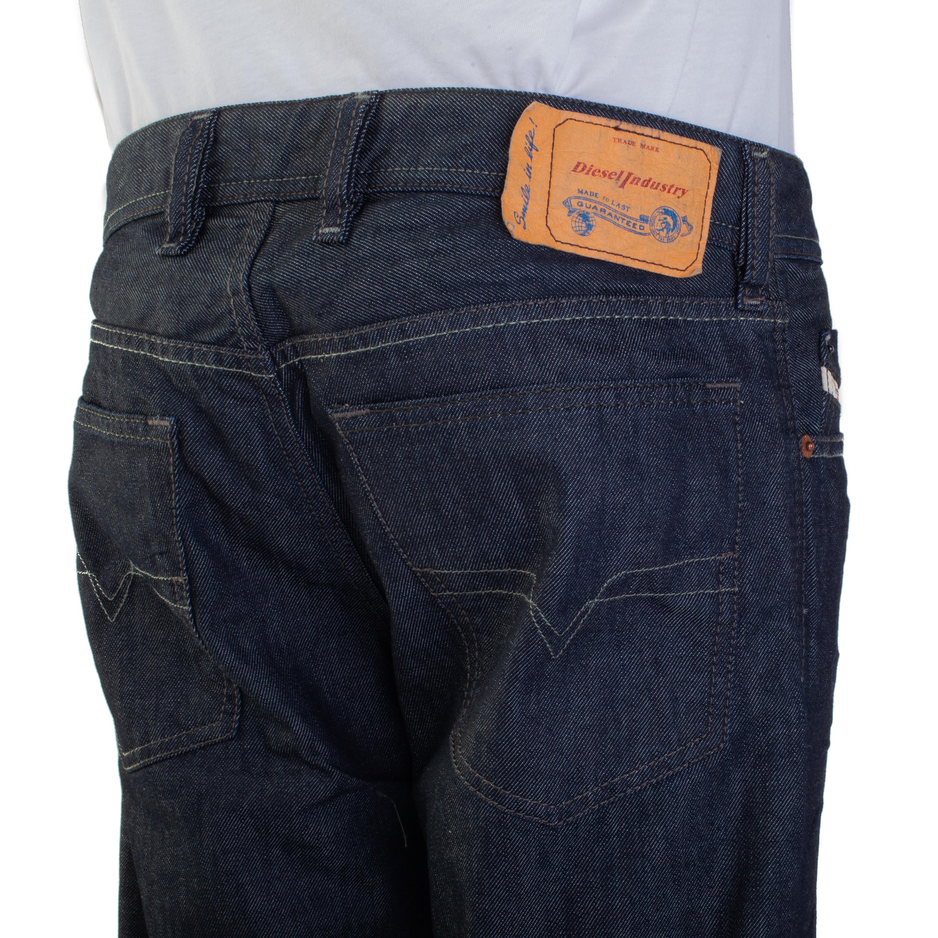 4f842289 Shop Diesel Men's Regular-Straight Fit Waykee 0088Z Jean Pants Dark Blue -  Free Shipping Today - Overstock - 25722859