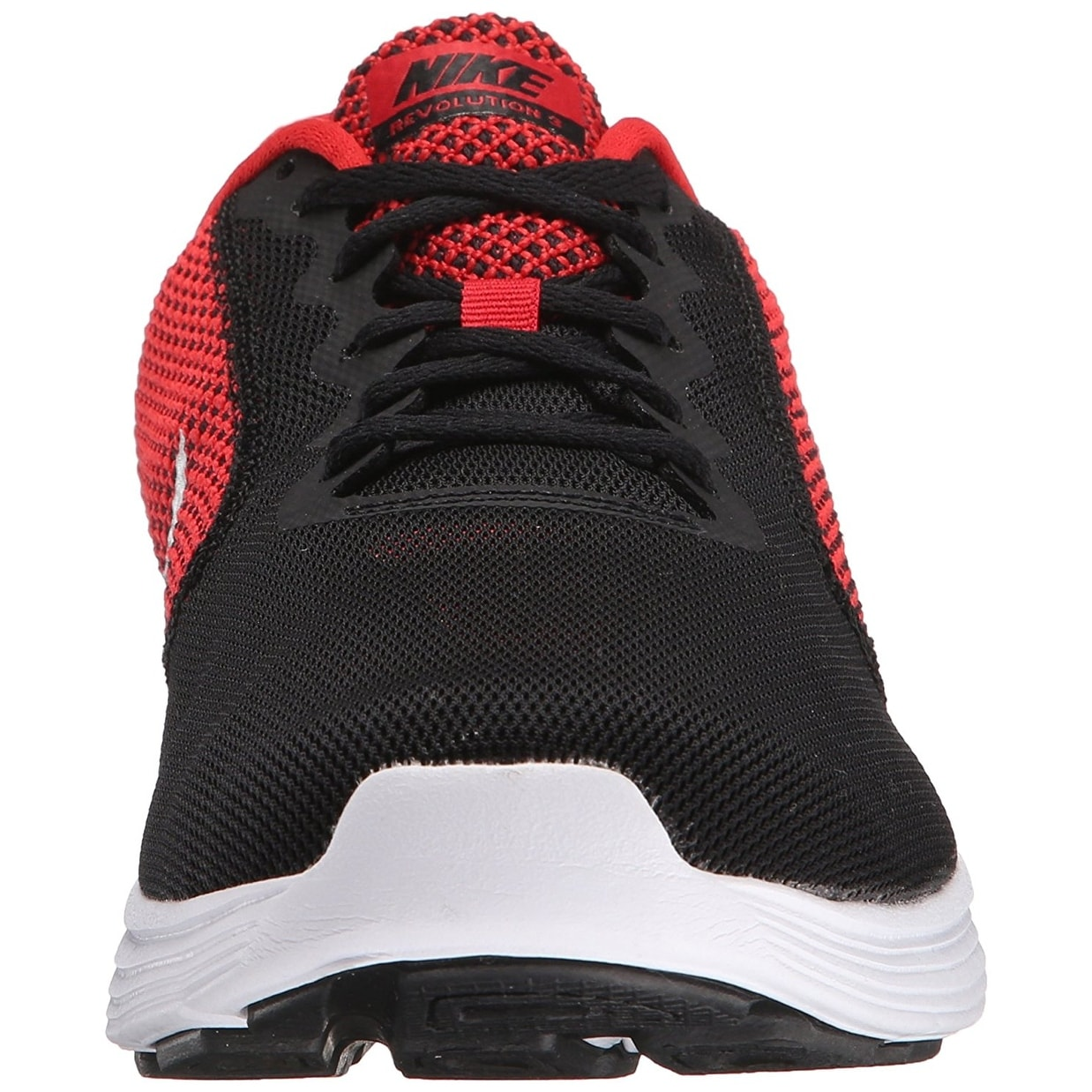 NIKE Men\u0027s Revolution 3 Running Shoe, University Red/Metallic Silver/Black  - Free Shipping Today - Overstock.com - 24412190