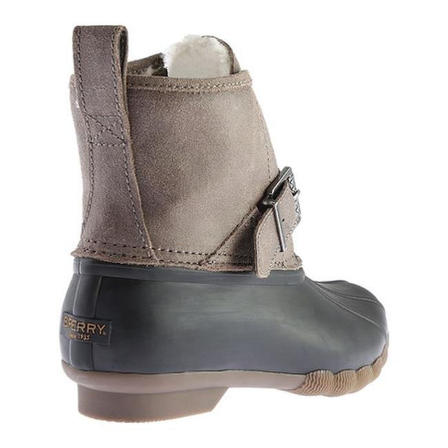 ff37d86d7ef7 Shop Sperry Top-Sider Women s Rip Water Boot Black Graphite Leather Rubber  - Free Shipping Today - Overstock - 17621116
