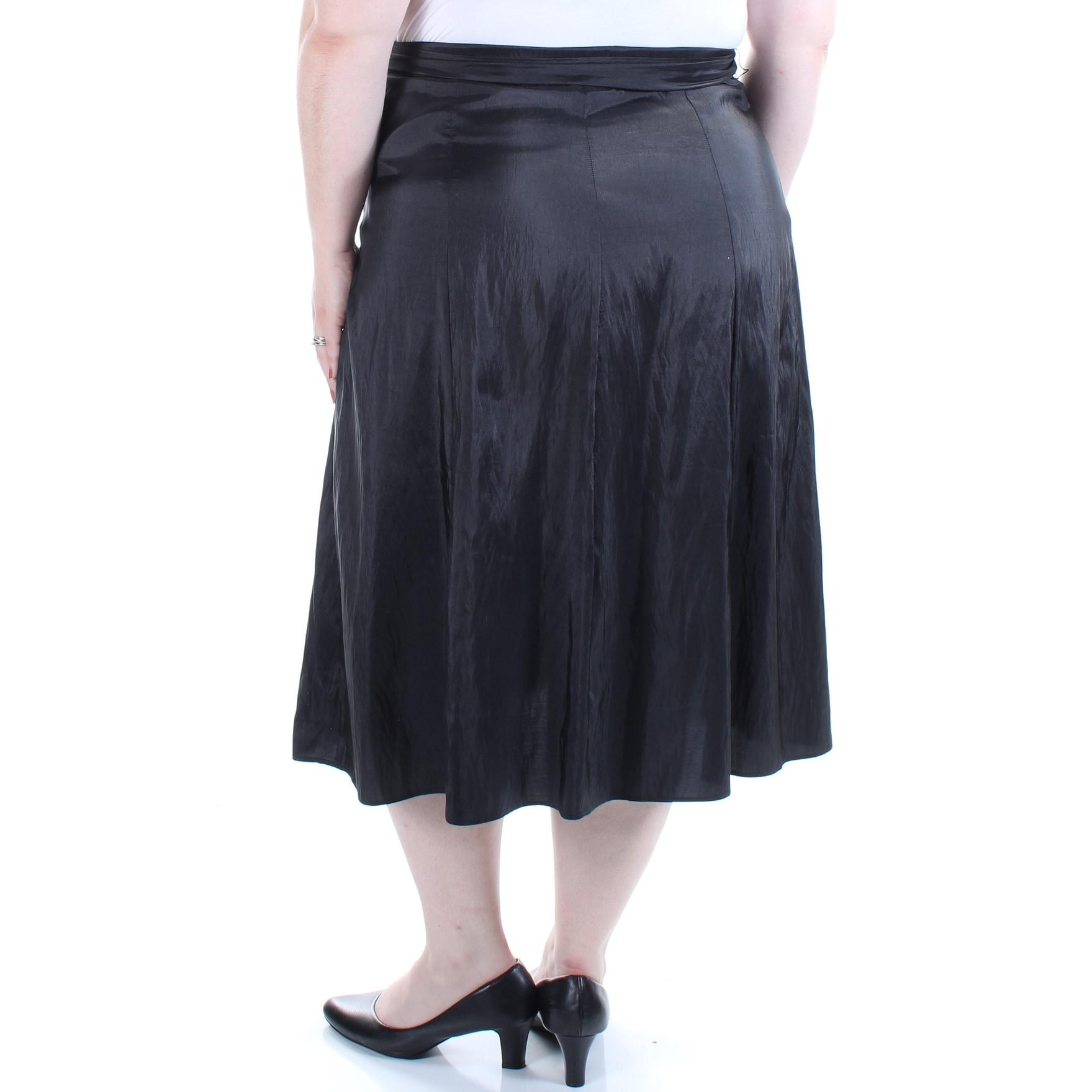 e472997d16f7f Shop MSK Womens Black Tea Length Skirt Plus Size  2X - Free Shipping On  Orders Over  45 - Overstock.com - 22424355