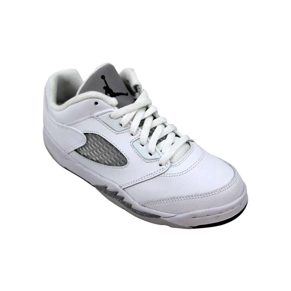a3e98522e5b09e Shop Nike Air Jordan V 5 Retro Low GP White Black-Wolf Grey Pre-School  819173-122 Size 3 Medium - Free Shipping On Orders Over  45 - Overstock -  27731307