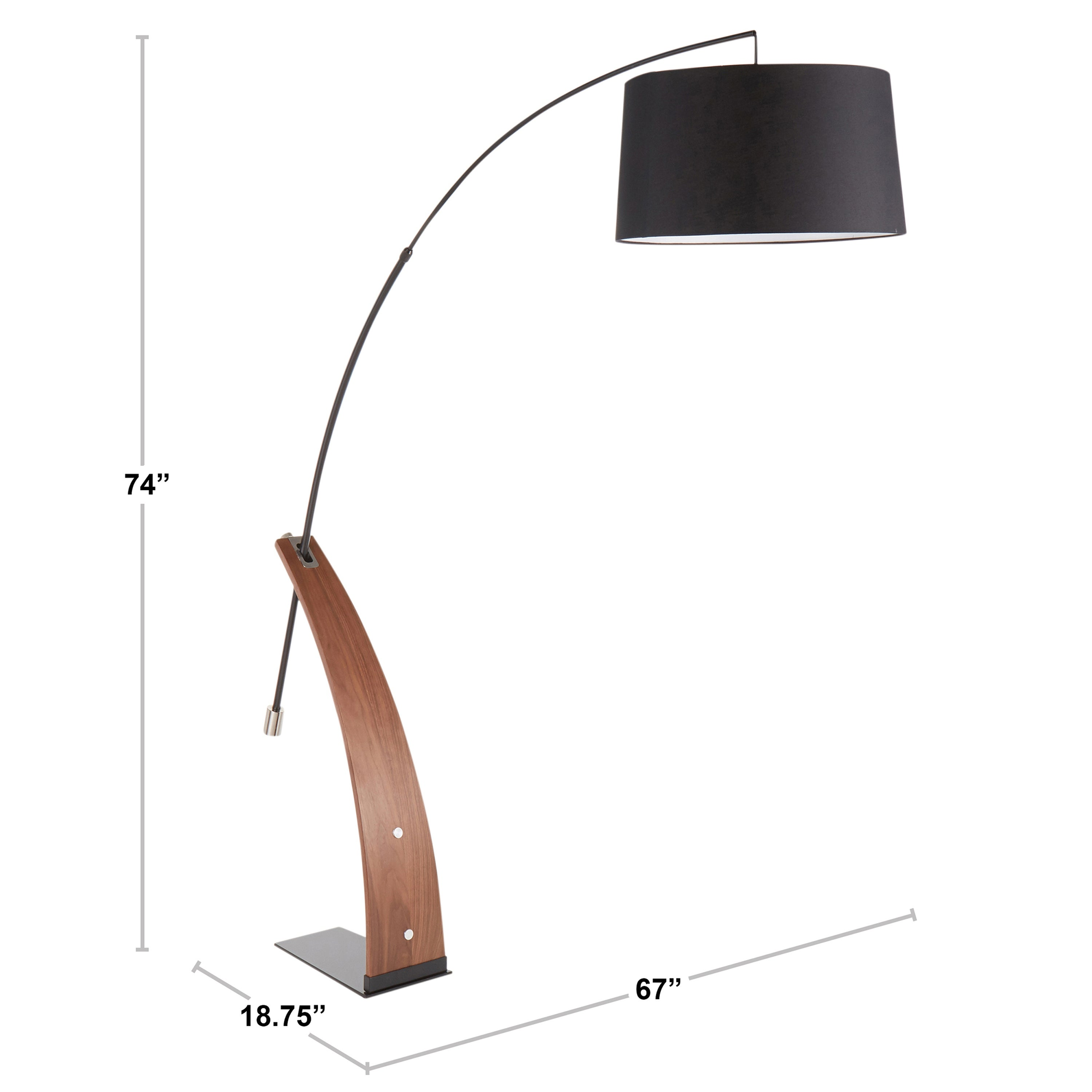 Shop Black Friday Deals On Robyn Mid Century Modern Floor Lamp N A Overstock 29197012