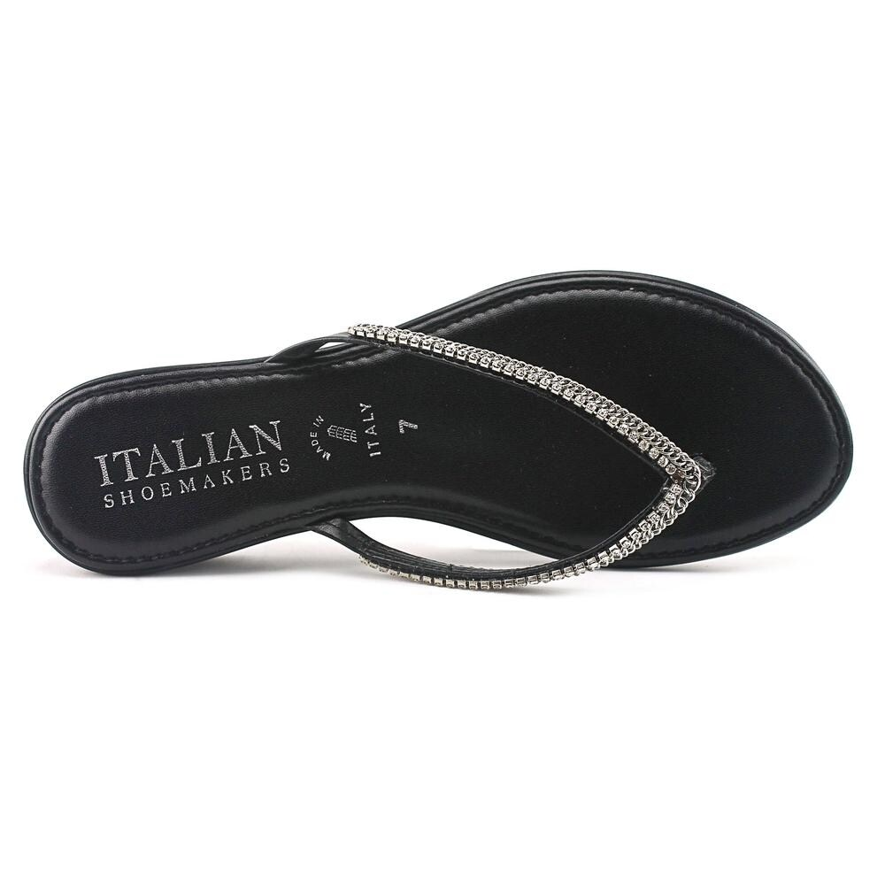 4243b12dd10 Shop Italian Shoe Makers Kennedy Women Open Toe Synthetic Black Thong Sandal  - Free Shipping On Orders Over  45 - Overstock - 16287705