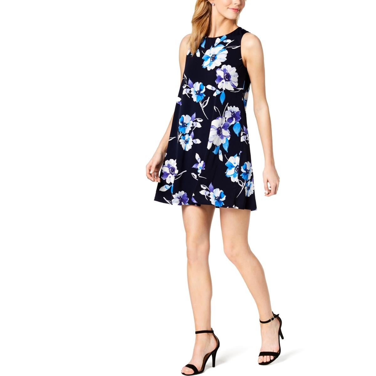 26e5d557 Shop Jessica Howard Womens Petites Shift Dress Sleeveless Floral ...
