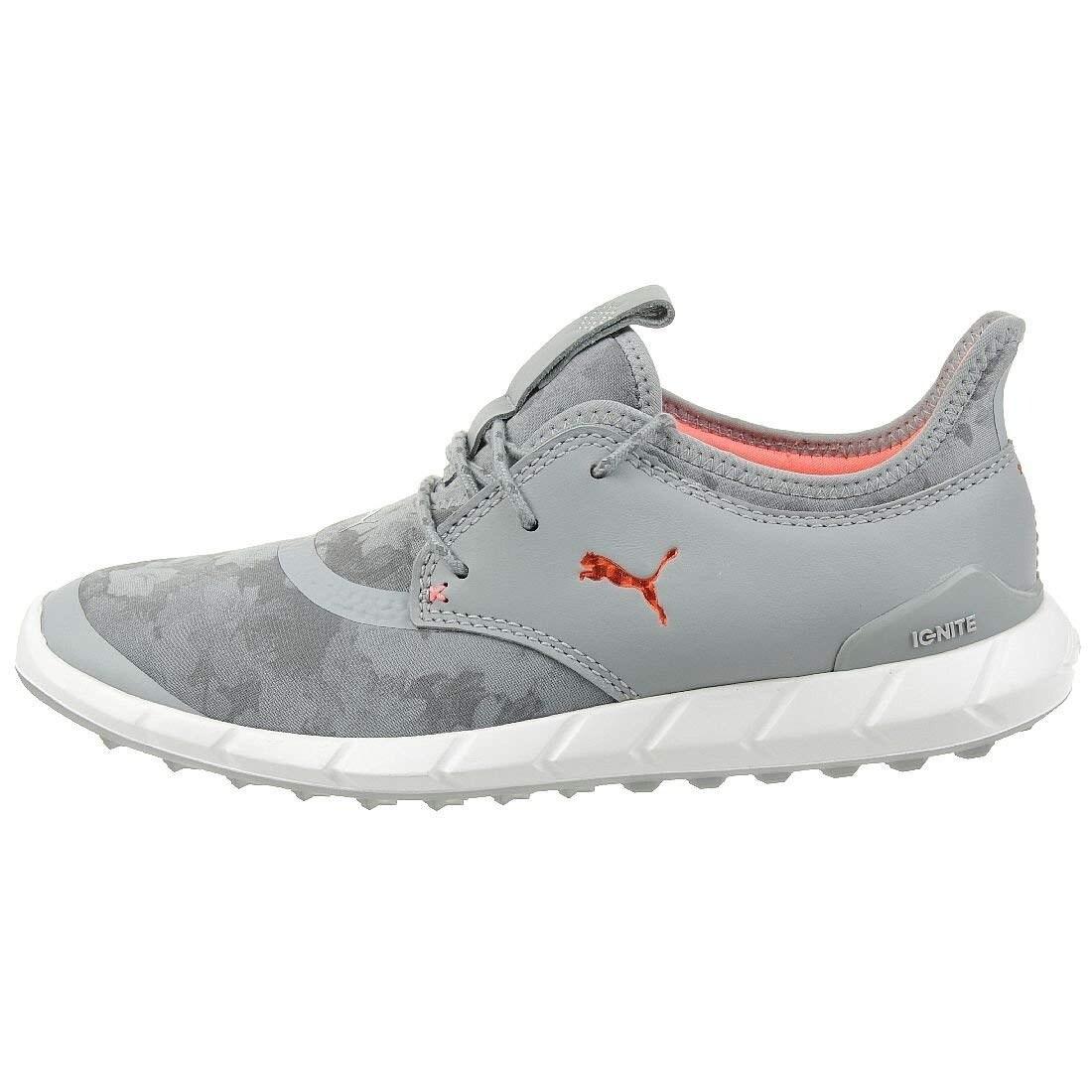 c7e0e5e7caa4 Puma Women s Ignite Spikeless Sport Floral Golf Shoes Grey White 190171-02