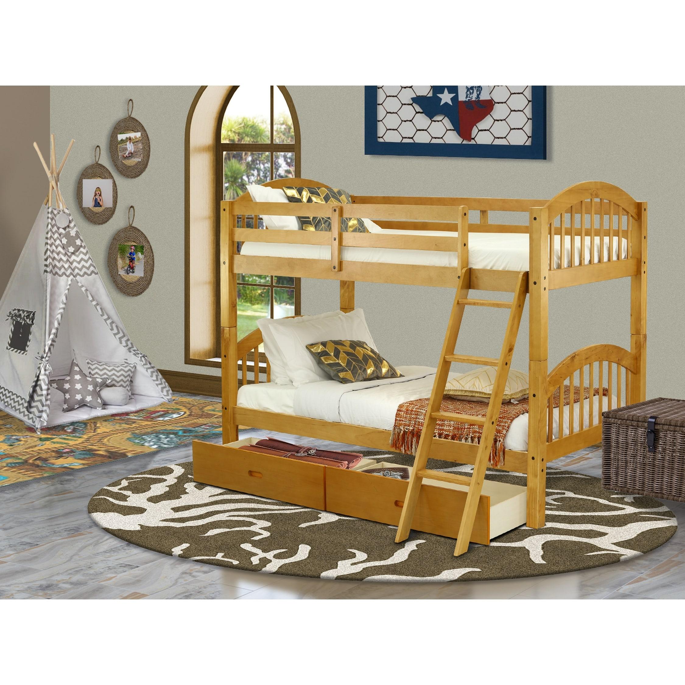 Verona Twin Over Twin Bunk Bed Overstock 31593615