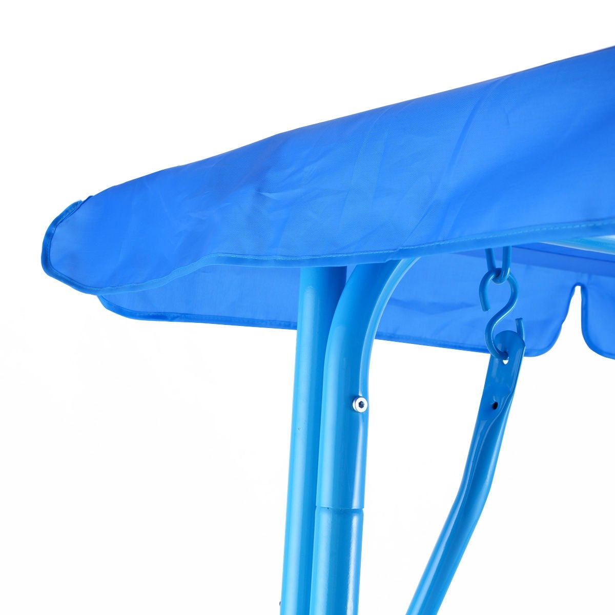 Costway Kids Patio Swing Chair Children Porch Bench Canopy 2 Person Yard  Furniture Blue   Free Shipping Today   Overstock   26802104