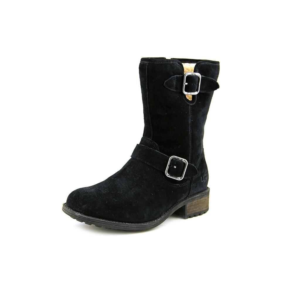e983ae96e91 Ugg Australia W Chaney Women Round Toe Suede Black Mid Calf Boot