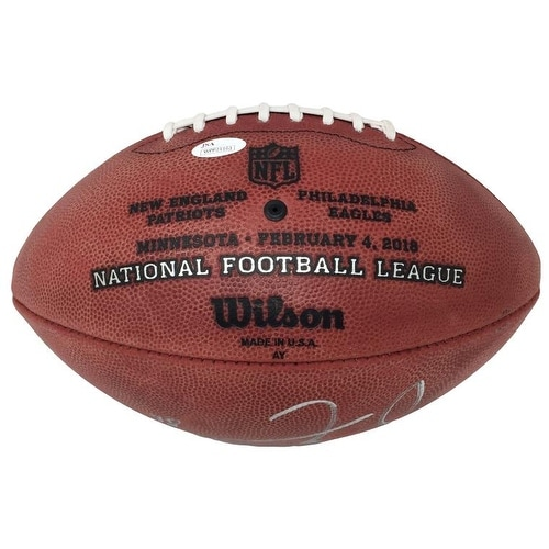 84e63ee6ba4 Shop Zach Ertz Signed Philadelphia Eagles Super Bowl 52 Silver Duke  Football JSA ITP - Free Shipping Today - Overstock - 21423369