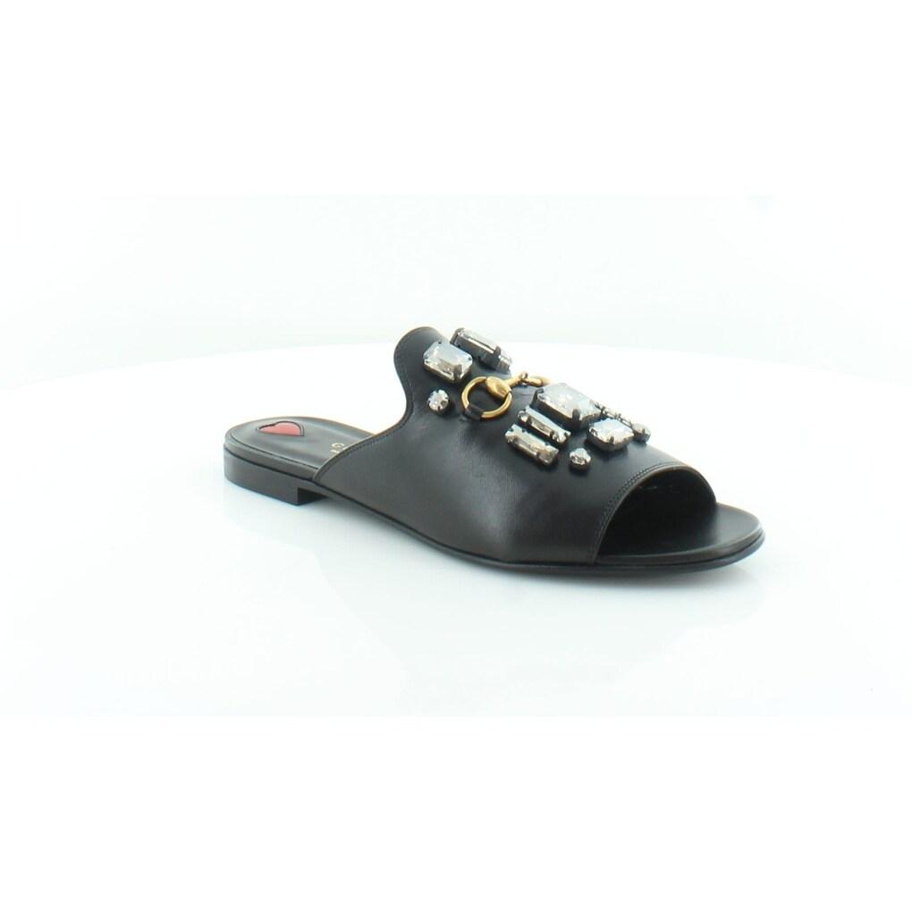 da0bbcfee678b1 Gucci Nimue Women s Sandals Nero White Magn - 8