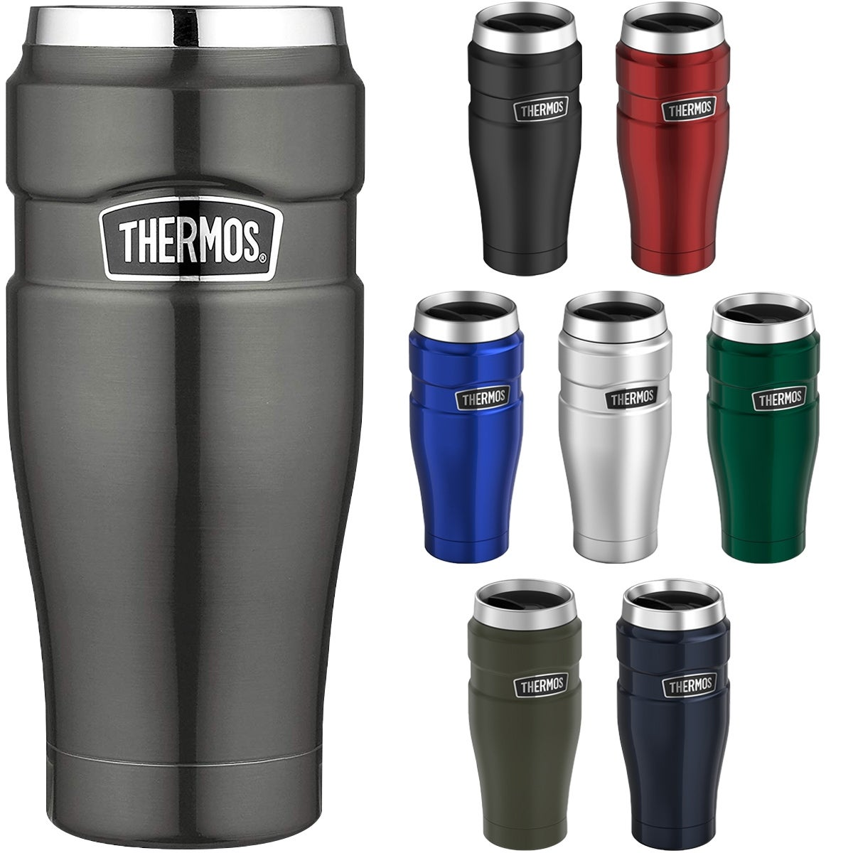 Thermos 16 oz  Stainless King Vacuum Insulated Stainless Steel Travel Mug -  16 oz