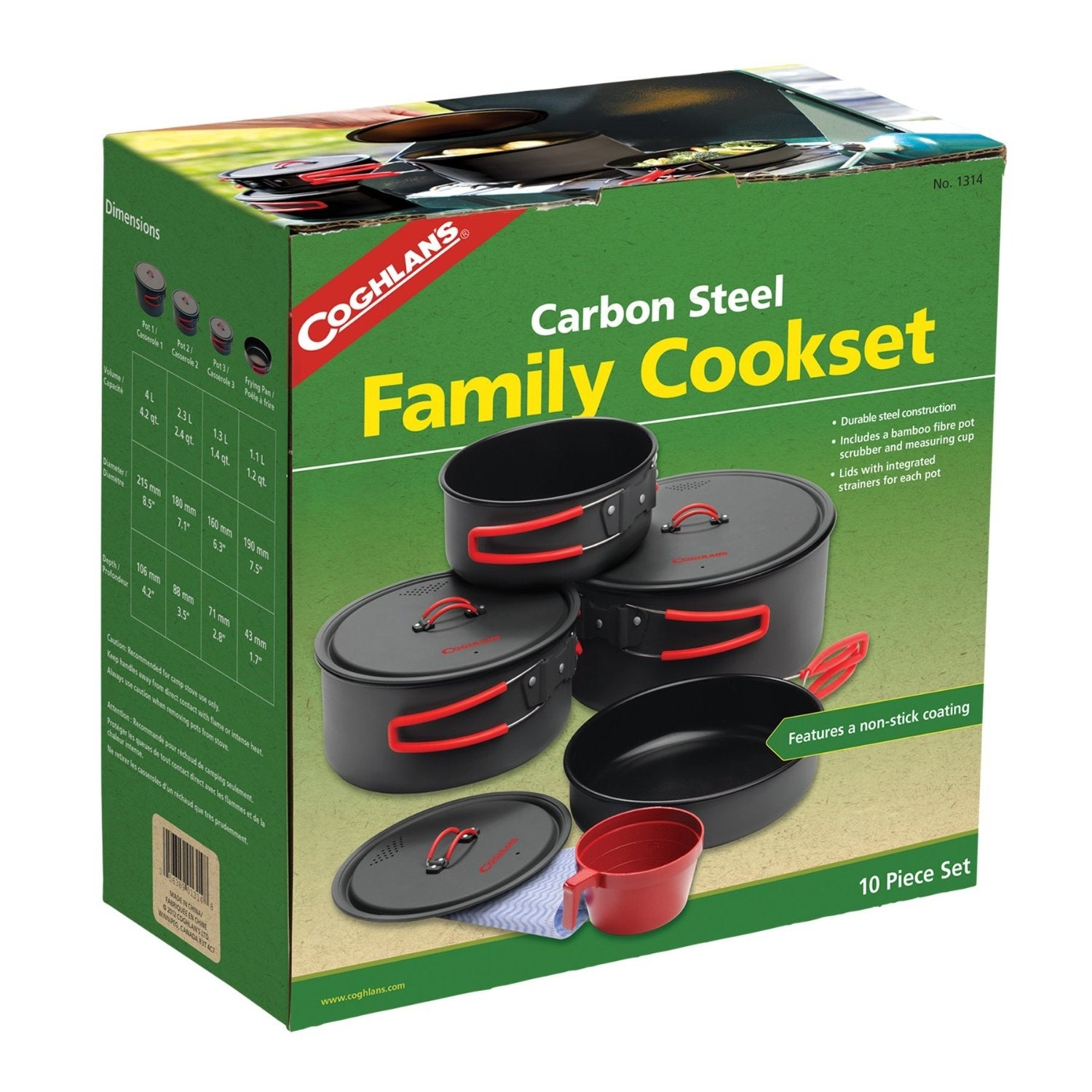 5b04a64c93 Shop Coghlan's 1314 Non-Stick Family Cook Set, Steel, 10-Pieces - Free  Shipping Today - Overstock - 17085629