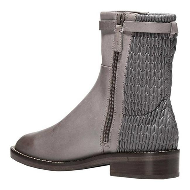e473fb5c77d Shop Cole Haan Women s Lexi Grand Stretch Strap Bootie Stormcloud  Leather Weave Stretch Leather - Free Shipping Today - Overstock - 25559480