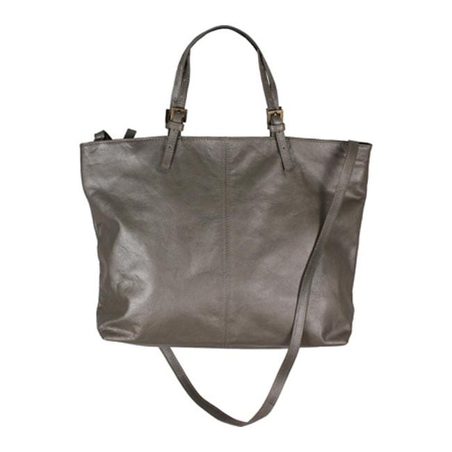 4c0508c7fb Shop Latico Women s Janice Tote 7948 Metallic Gray Leather - us women s one  size (size none) - Free Shipping Today - Overstock.com - 8066164