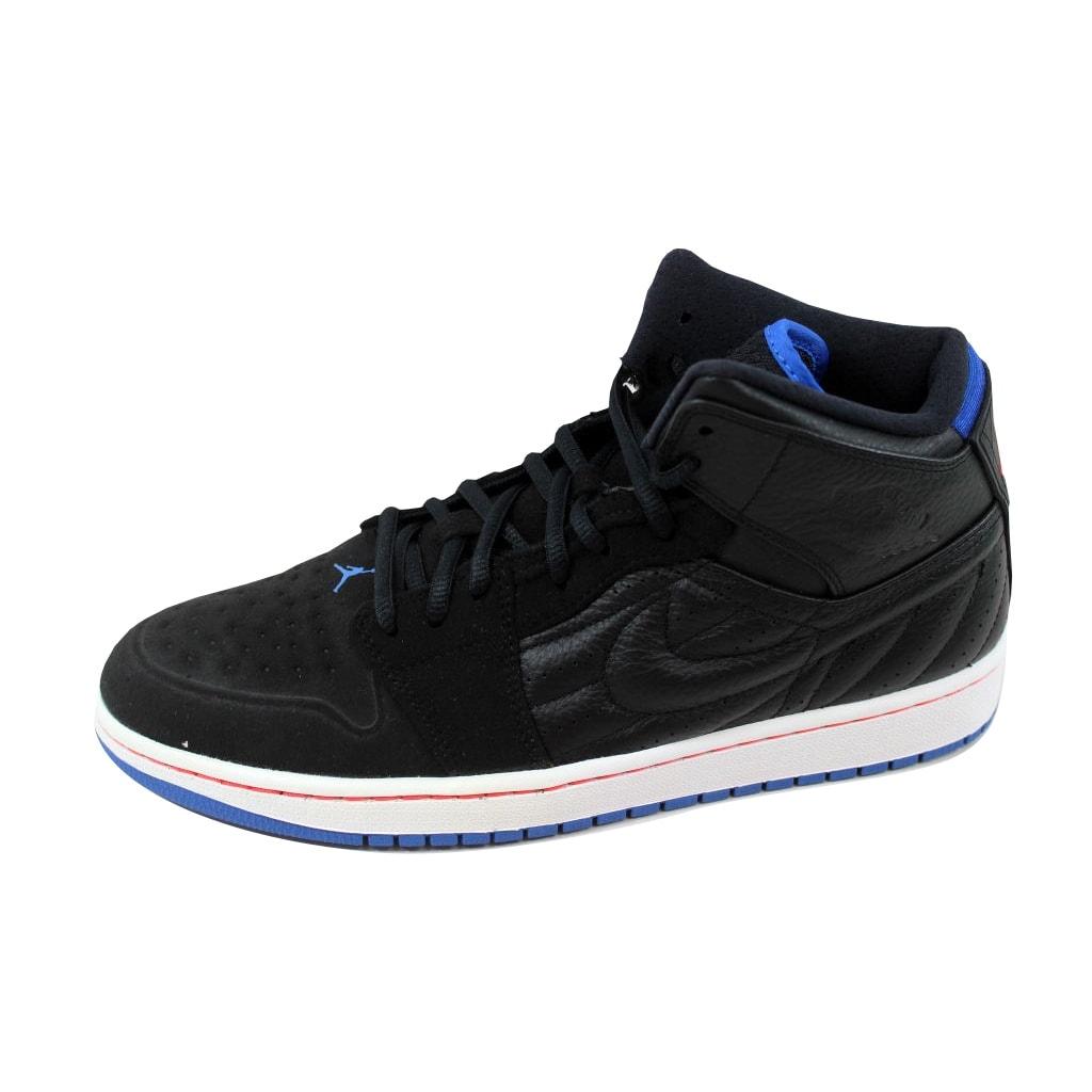 b776da90cb0 Shop Nike Men's Air Jordan 1 Retro '99 Black/Sport Blue-Infrared  23-White654140-007 - Free Shipping Today - Overstock - 21141901