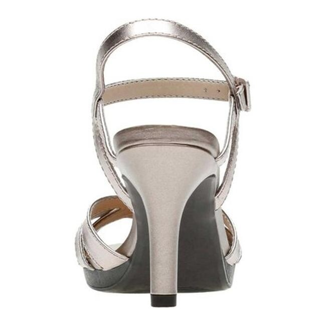4aadd295b76 Shop Clarks Women s Adriel Wavy Heeled Sandal Pewter Full Grain Leather -  On Sale - Free Shipping Today - Overstock - 27346861