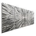 Statements2000 Silver 5 Panel Modern Metal Wall Art Sculpture by Jon Allen - Vortex 5P