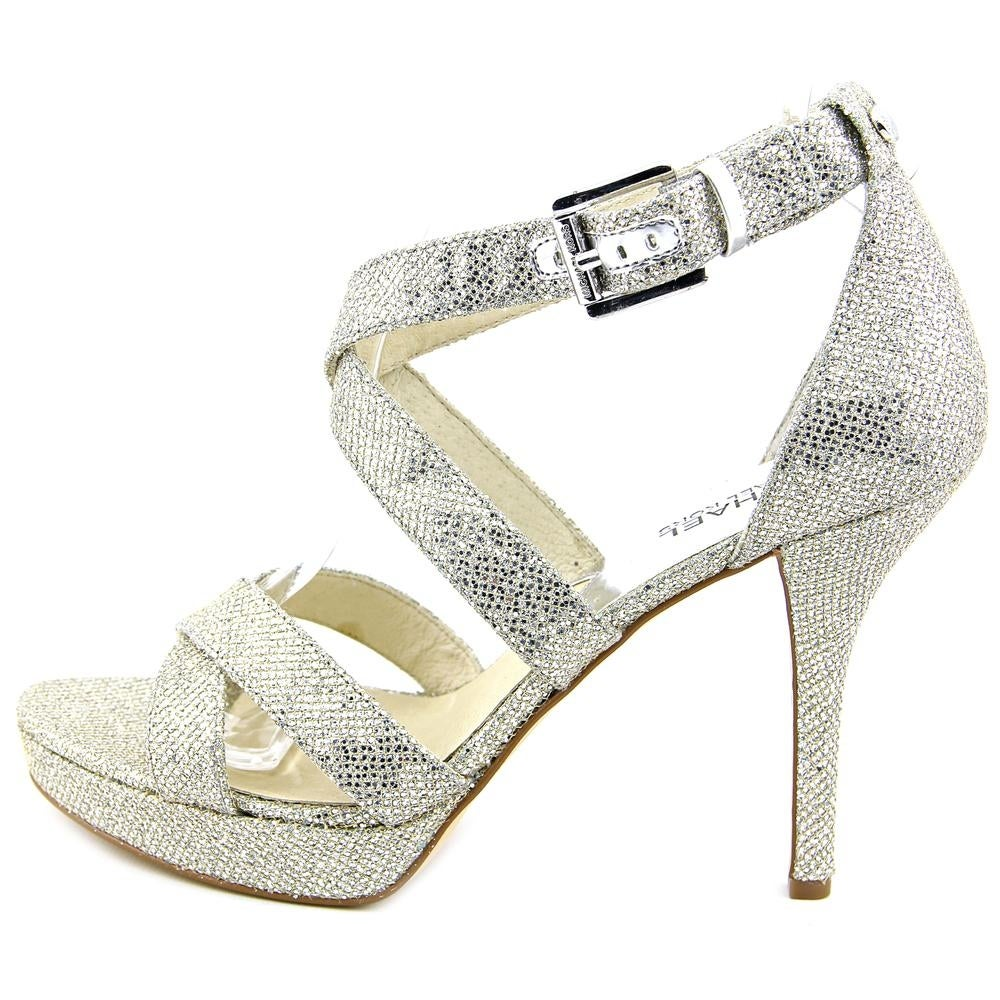 a47a04ab7 Shop Michael Michael Kors Evie Platform Women Silver Glitter Sandals - Free  Shipping On Orders Over $45 - Overstock - 13562066